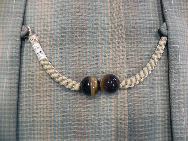 正絹羽織紐「猫目/灰梅」男性用
