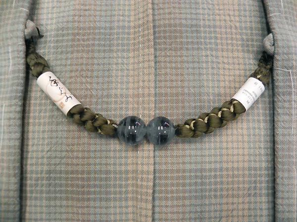 正絹羽織紐「猫目/山鳩色」男性用
