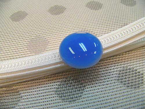 ガラス帯留め「色のしずく/青藤色」