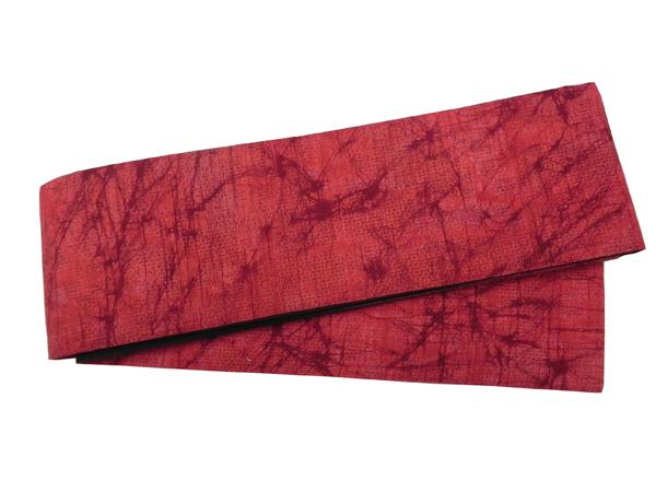木綿角帯「ろうけつ染/紅赤」