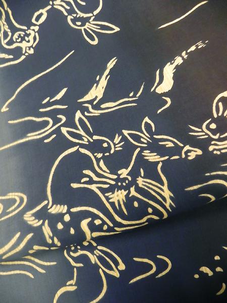 三勝本染ゆかた「鳥獣戯画」