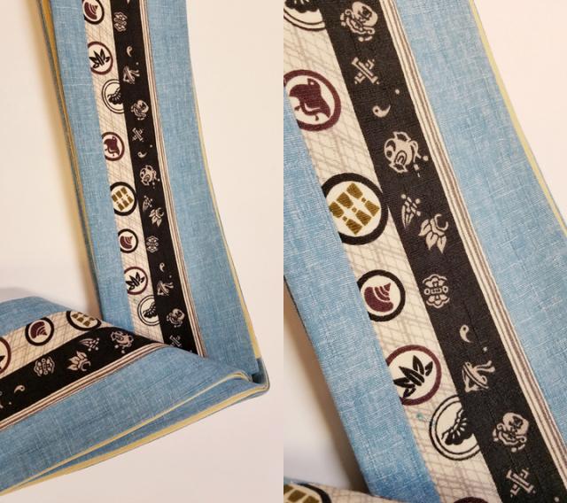 三勝染木綿角帯「家紋」