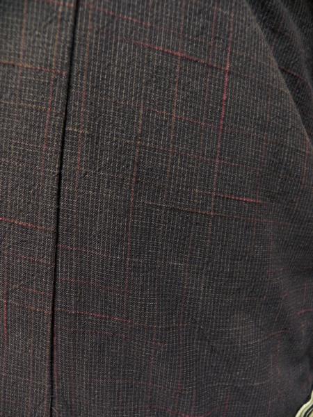 先染織木綿着物「刷毛格子」