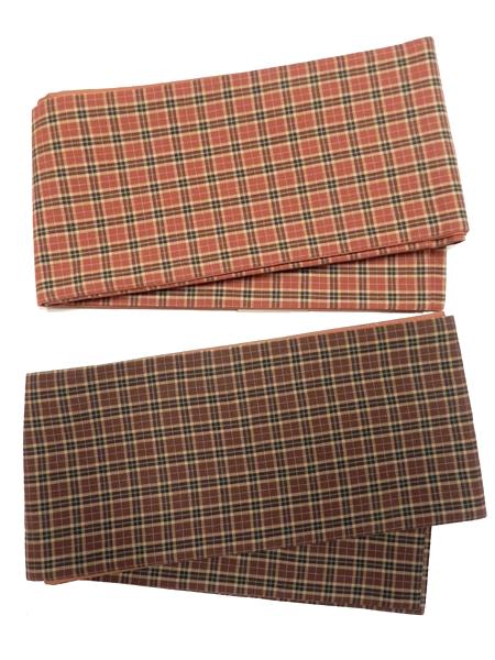 三勝染半巾帯「二筋格子」
