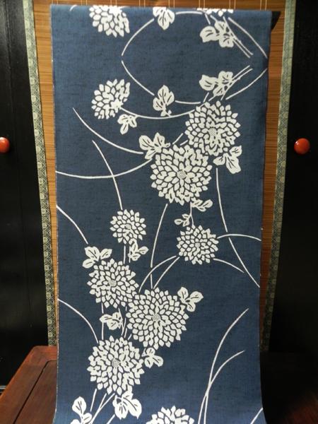 三勝染「綿紬ゆかた/菊柄」