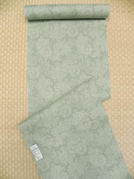 三勝染綿ゆかた「菊柄/若緑」