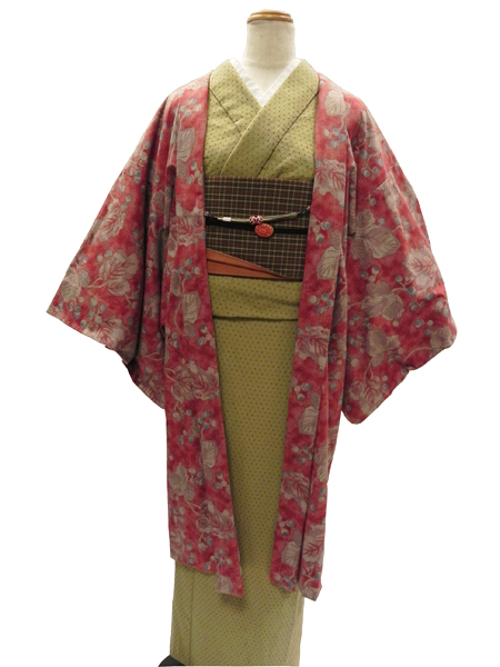 先染織木綿着物「Kasuri Pindot」&「SARASA/羽織」