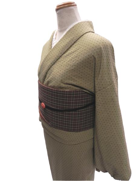 先染織木綿着物「Kasuri Pindot」