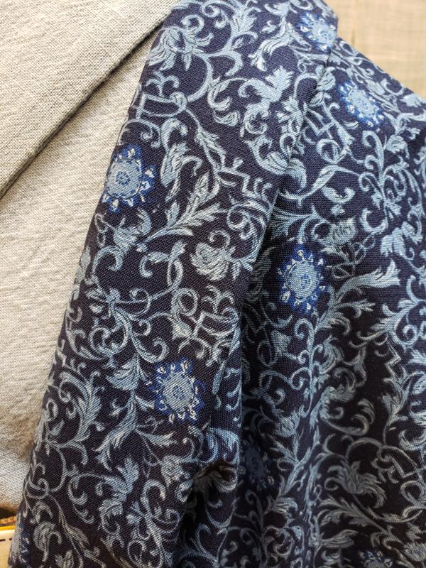 木綿更紗羽織・あずみ野木綿着物