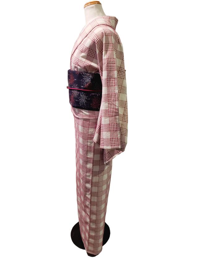 (先染)木綿着物/刺子スクエア