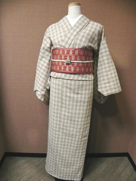 先染木綿着物「編み格子/No.1810」全8色