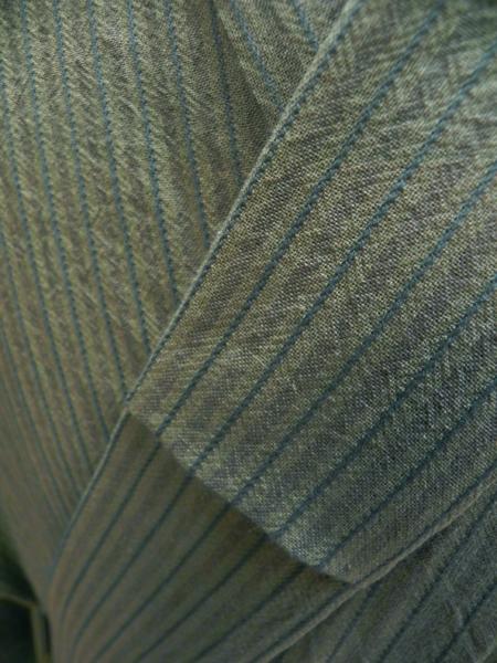 先染木綿着物「薩摩縞両面使い」