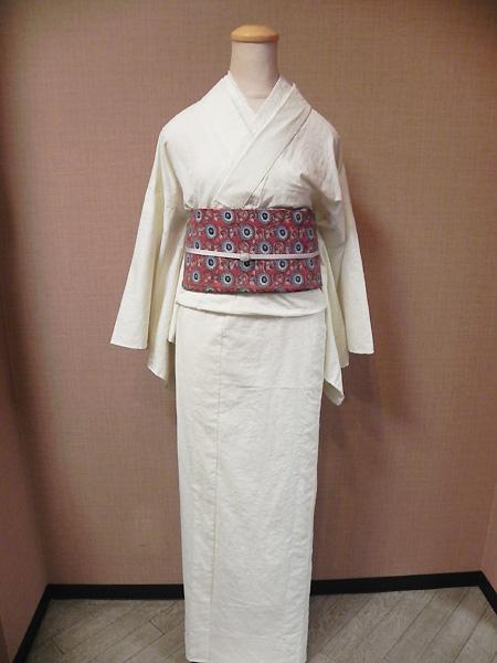紋織[ジャガード]の木綿着物