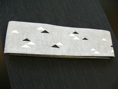 コーディネート「木綿角帯」
