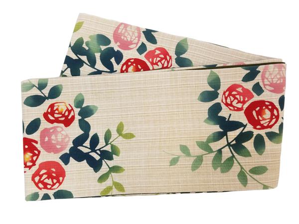 三勝染木綿細帯「薔薇」