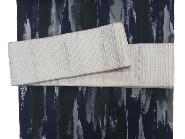 綿絹角帯「薄鼠」