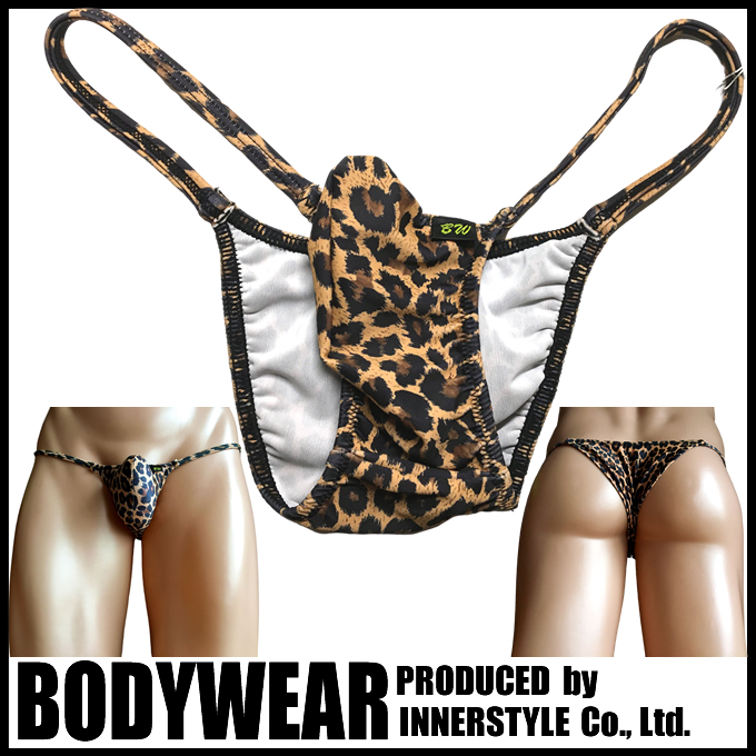 メンズビキニ ヒョウ柄 上向き Tフロント リオバック ボディウェアー BODYWEAR leopard patternTiny Rio Bikini 2005100