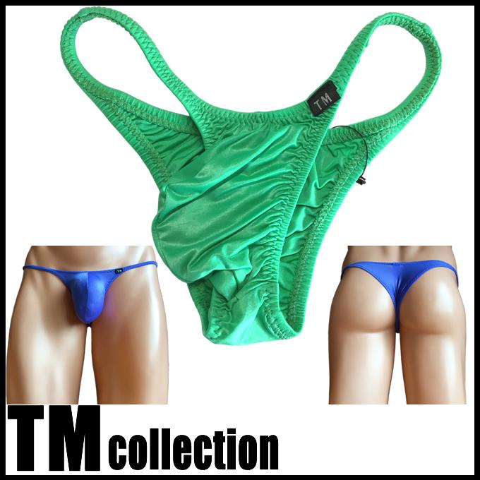 TMコレクション メンズビキニ シャイニースキン シャープカット もっこり リオバック  Super stretch Bulge Bikini 325197