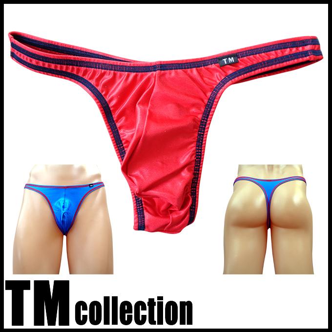 TMコレクション メンズビキニ WET カラーステッチ Tバック 565089