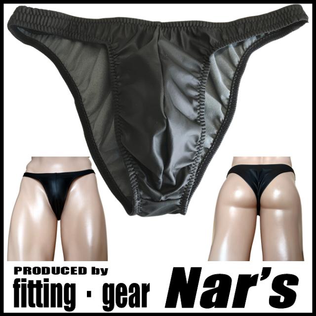 Nar's メンズビキニ フェイクレザー  ハーフバック synthetic leather Bikini Msize 1115