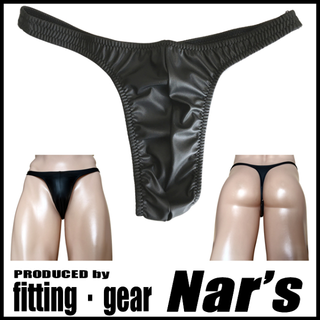 Nar's メンズビキニ フェイクレザー  Tバック synthetic leather Thong Msize 1615