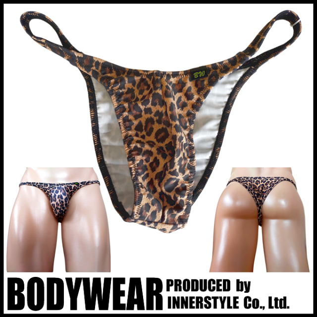 BODYWEAR メンズビキニ レオパード柄 スタンダードハーフ バック Men's Bikini 1957108