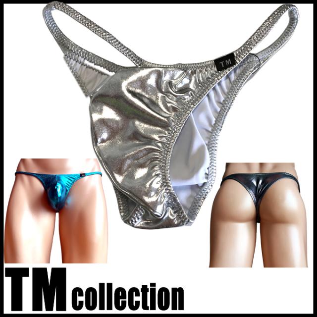 TMコレクション メンズビキニ メタリック もっこりシャープ リオバック Metallic Bulge Rio bikini 325217