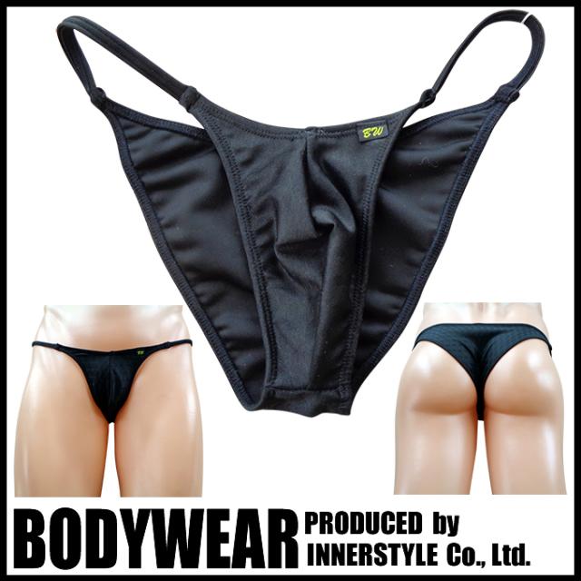 メンズ水着 BLACKアーガイル柄  ストリング ハーフバック Swimsuit BODYWEAR 3351083