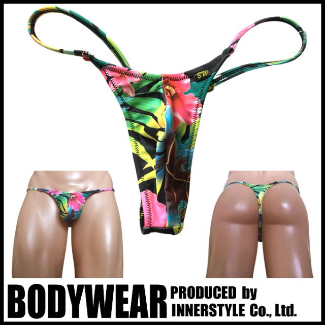 BODYWEAR メンズ水着 ハイビスカス柄 サイドストリング Tバック swimwear sidestirng Thong 3352110