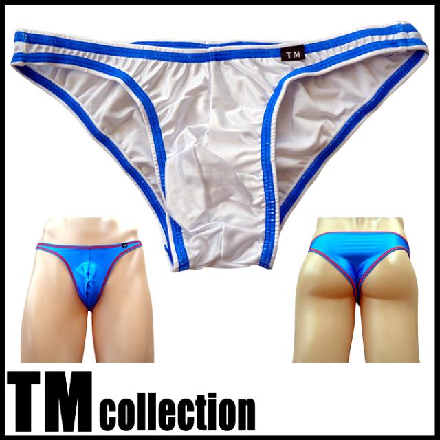 TMコレクション メンズビキニ WET カラーステッチ フルバック 565088