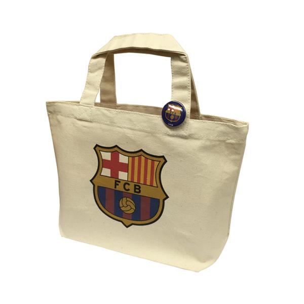 FCバルセロナ 缶バッジ付トートバッグ Sサイズ