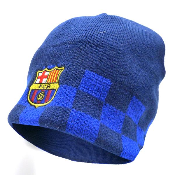 FCバルセロナ ワッチニットキャップ (チェック)