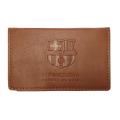 FCバルセロナ PU カードホルダー (ブラウン)