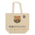 FCバルセロナ 缶バッジ付トートバッグ Lサイズ
