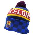 FCバルセロナ ポンポンニットキャップ (チェック)
