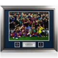 FCバルセロナ UEFA チャンピオンズリーグ オフィシャル額入りフォト:2011 Winners