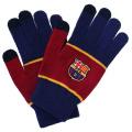 FCバルセロナ スマホ対応手袋 (ネイビー/レッド)