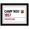 FCバルセロナ 額入りオフィシャルフォト Street Sign 40x30cm