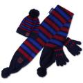 FCバルセロナ 幼児用 マフラー手袋ニット帽 3点セット