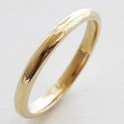 【送料無料】 K18 / 2.0mm幅 Duperey simple straight ring (デュプレーシンプルストレートリング)