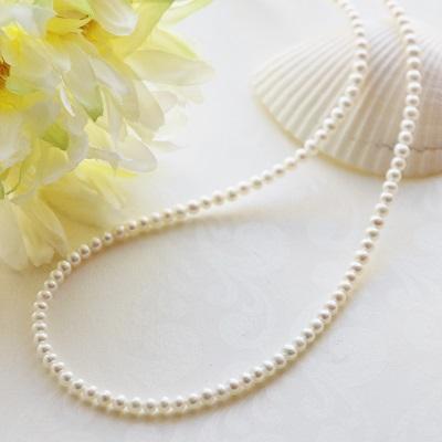 【送料無料】 K18 Little mermaid baby water pearl necklace/3.0mm~3.5mm (リトルマーメイド淡水ベビーパールネックレス)