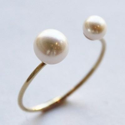 K18 リトル マーメイド 淡水パール フォーク リング 18K 18金 GOLD WG ゴールド ホワイトゴールド 女性 レディース 指輪 華奢 シンプル 真珠 重ね付け おしゃれ 人気 ギフト プレゼント C字