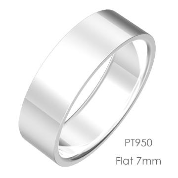 Pt950 Flat 平打7mm幅「マリッジリング結婚指輪」