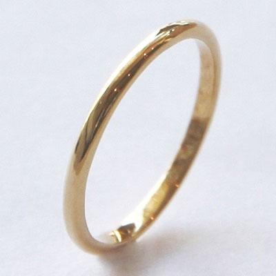 【送料無料】 K18 / 1.5mm幅 Duperey simple straight ring (デュプレーシンプルストレートリング)