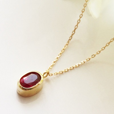 merci k18 onlry one ruby pendant necklace0650ct mozeypictures Choice Image