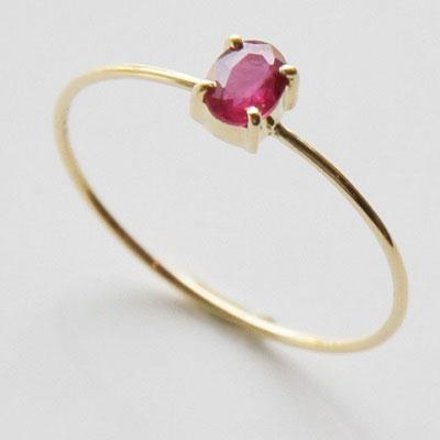 【送料無料】 K18 Onlry one Ruby ring/0.250ct (オンリーワン ルビー リング / 0.25ct)