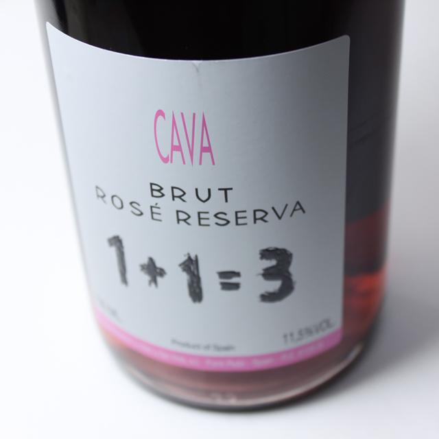 1+1=3(ウ・メス・ウ・ファン・トレス) カヴァ ブルット ロゼ レゼルバ