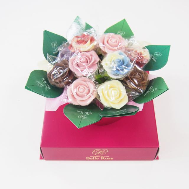 バラのショコラブーケ12本(BOXあり)