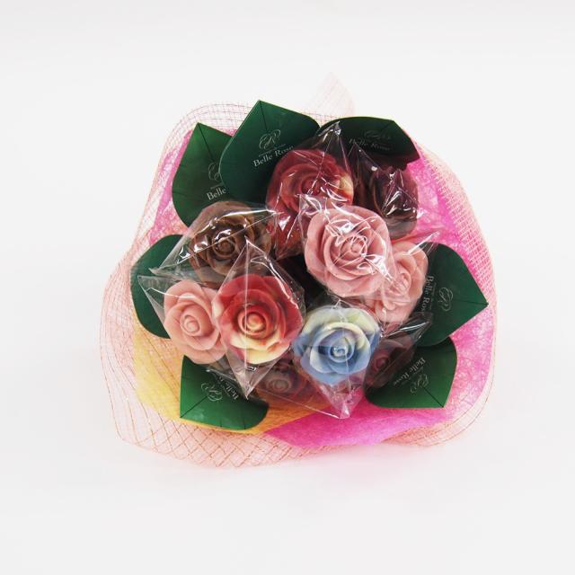 バラのショコラブーケ10本(有料ラッピング付き)