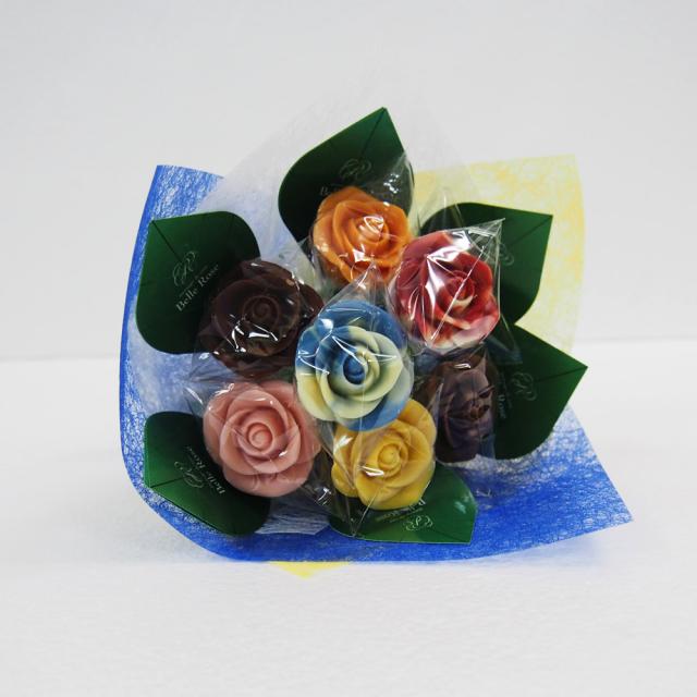 【特注】バラのショコラブーケ・8本(ラッピング付き)